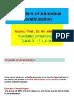 2. Disorders of Abnormal Keratinization