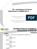 Workshop 09 - Introduction to Process Optimization in GAMS Part 2 (1)