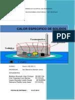 Informe de Laboratorio CALOR ESPECÍFICO DE SOLIDOS