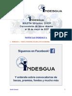 Boletin Semanal Indesgua 13-2017- Convocatorias Abiertas Al 28 de Mayo de 2017