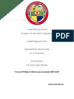 Curva de Phillips Econometria II
