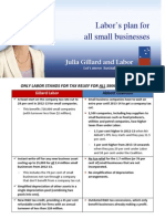 Only Labor Stands for Tax Relief for All Small Businesses - Fact Sheet