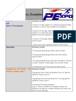 Project Category Examples