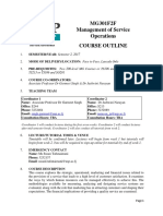 Course Outline MG301FF S2 2017