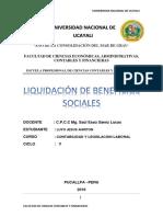 Liquidacion de Beneficios Sociales