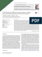 G a Novel Laboratory Procedure for Predicting Con