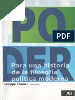 Duso Giusepe - El Poder - Para una historia de la Filosofía Política Moderna