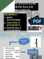 Perencanaan Yang Efektif Dalam Organisasi