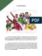 1 - A Cricket Match