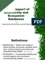 GPS in Biodiversity