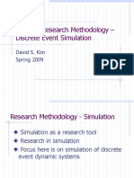 Week 6b - Dr.kim.Research Methodology - Simulation