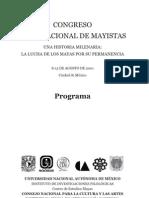 Programa Congreso Internacional de Mayistas