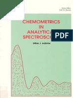 (Rsc Analytical Spectroscopy Momographs) M. J. Adams-Chemometrics in Analytical Spectroscopy -Royal Society of Chemistry (1995)