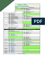 GCE Exams Timetable Summer 2016