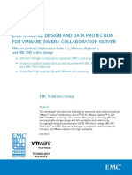 Zimbra EMC Storage Design Data Protection Vmware Zimbra