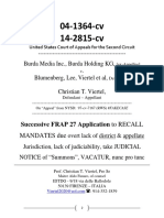 Second Circuit Jul 2017 Mandate Recall and VACATUR [bis]