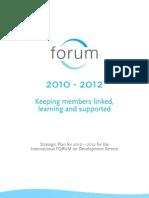 FORUM Strategic Plan 26.1.10