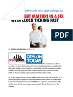 President Maithri in a fix with clock ticking fast.docx