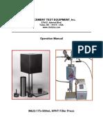 M622-175+500 Fluid Loss Operation Manual