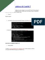 Mengatur Ip Address Di CentOS 7