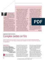Complex Oxides on Fire