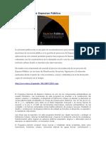 Libro Gestión de Espacios Público