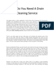 Why Do You Need a Drain Cleaning Service