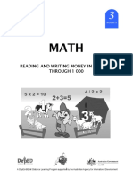 Math 3 DLP 8 - Reading and Writing Money in Symbols Through 1 000