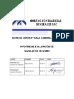 Informe de Evaluacioin Simulacro Sismo MCG