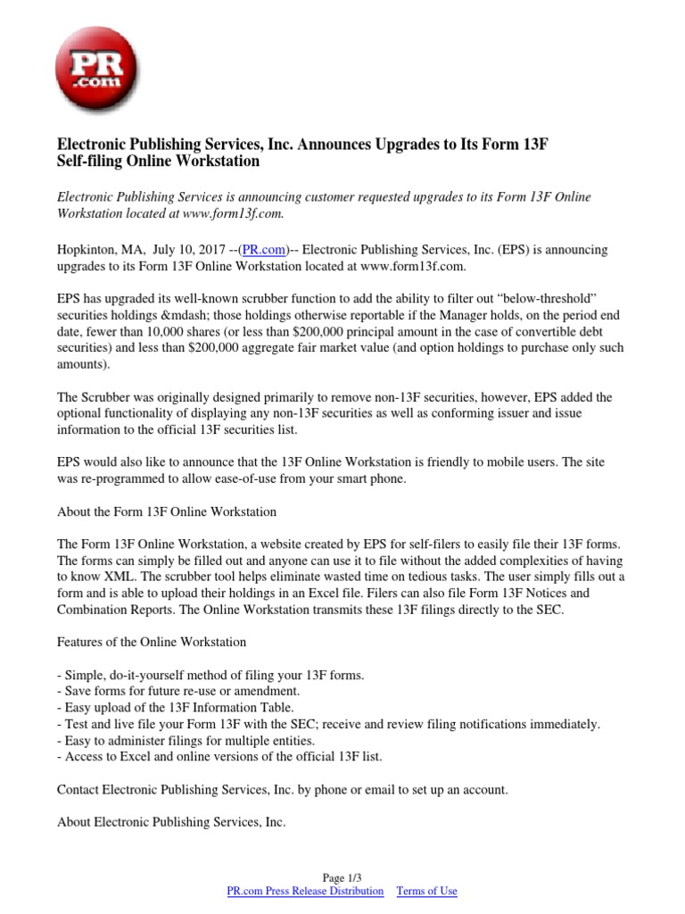 Electronic Publishing Services, Inc  Announces Upgrades to