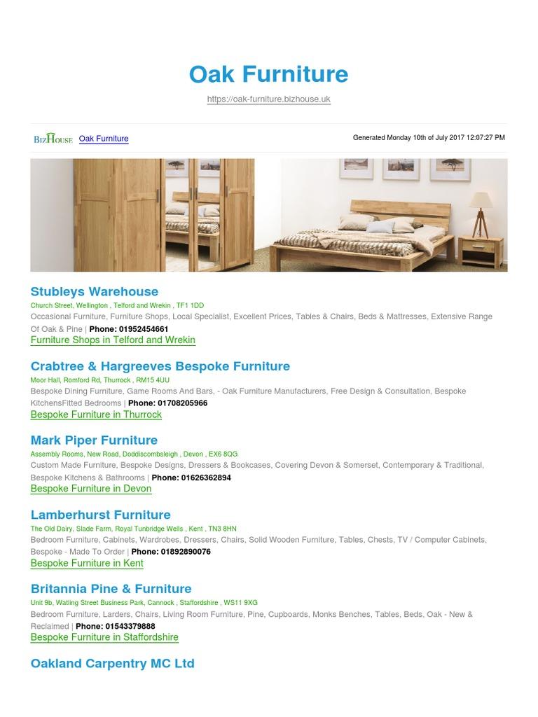 Oak Furniture BizHouse.uk