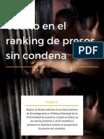 Cifras de presos sin condena en Paraguay
