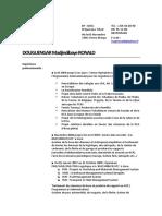 CV Douguengar Madjindibaye Ronald