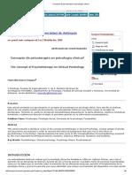 Concepto de Psicoterapia en Psicología Clínica