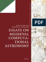 Jose Chabas Bergon, Bernard R. Goldstein Essays on Medieval Computational Astronomy