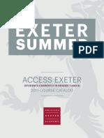 Exeter Summer Catalog