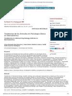 Tendencias de Los Artículos en Psicología Clínica en Iberoamérica