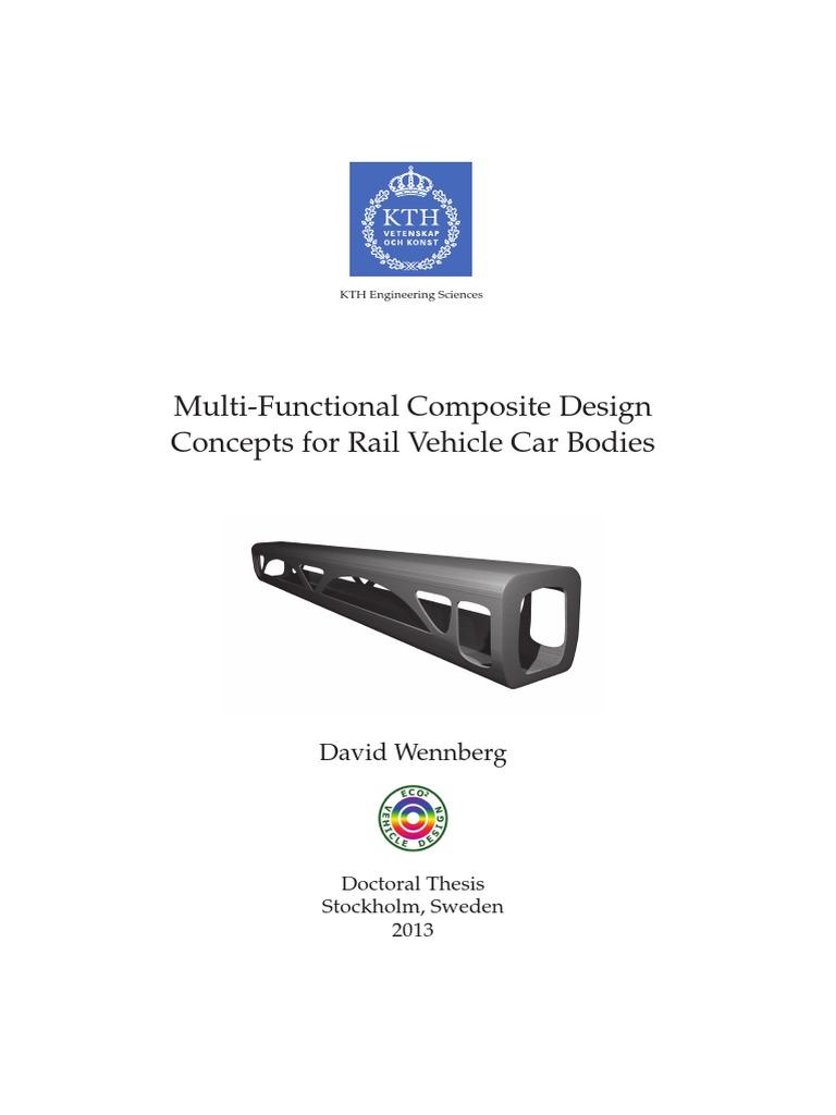 Multi-Functional Composite Design Concepts for Rail ...