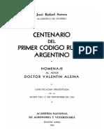 Centenario Del Primer Codigo Rural
