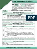 Plan 4to Grado - Bloque 1 Formación C y E (2016-2017)