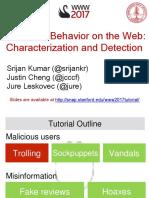 Malicious Behavior on the Web.