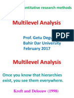 8) Multilevel Analysis