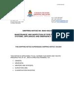 Emergency System Maintenance FFA