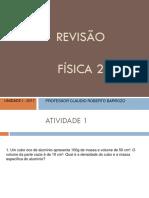 Revisão Fisca 2 Unidade 1 2017