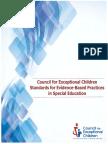 CECs Evidence Based Practice Standards