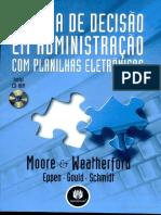 Moore _ Weatherford - Tomada de Decisão Em Administração Com Planilhas Eletrônicas - Parcial