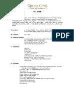 Grand Cenia Fact Sheet