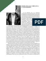 Foucault - Prefacio a La Transgresión