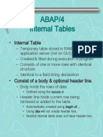 ABAP Internal Tables