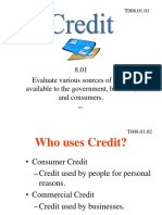 Uses of Credit